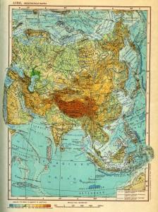 Физическая карта азии сер xx века