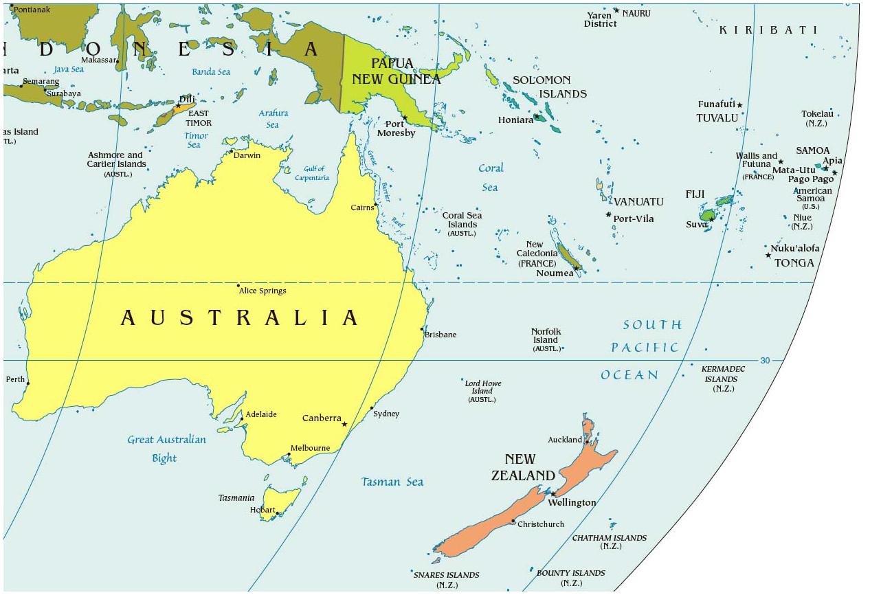 27 окт полит карта австралии english