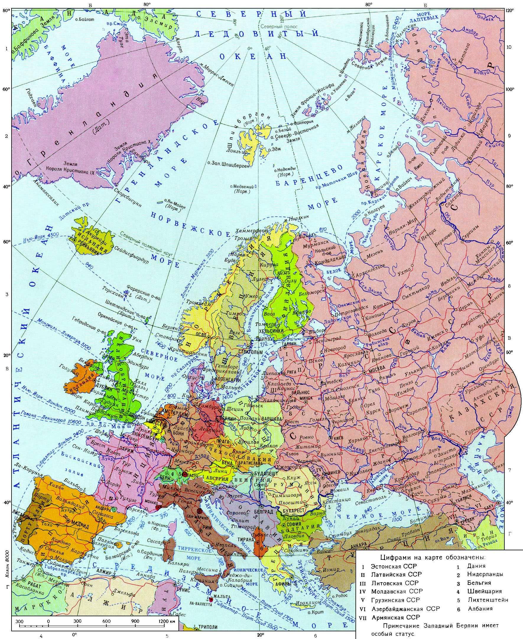 Политическая карта европы советских