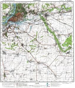 Топографическая карта самары