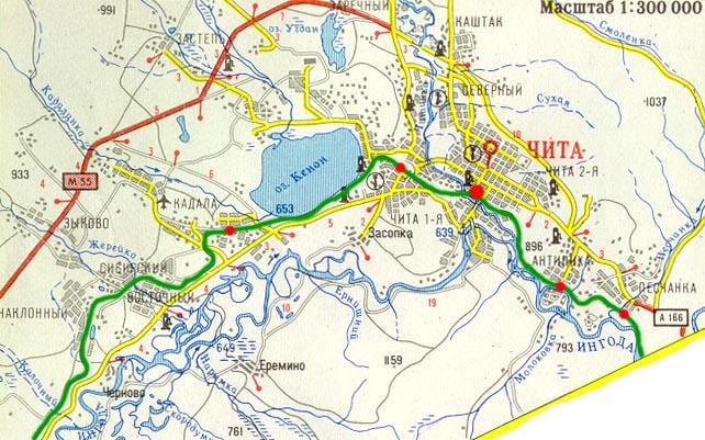 Карта Города Улан Удэ С Улицами