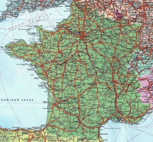 Карта дорог Франции
