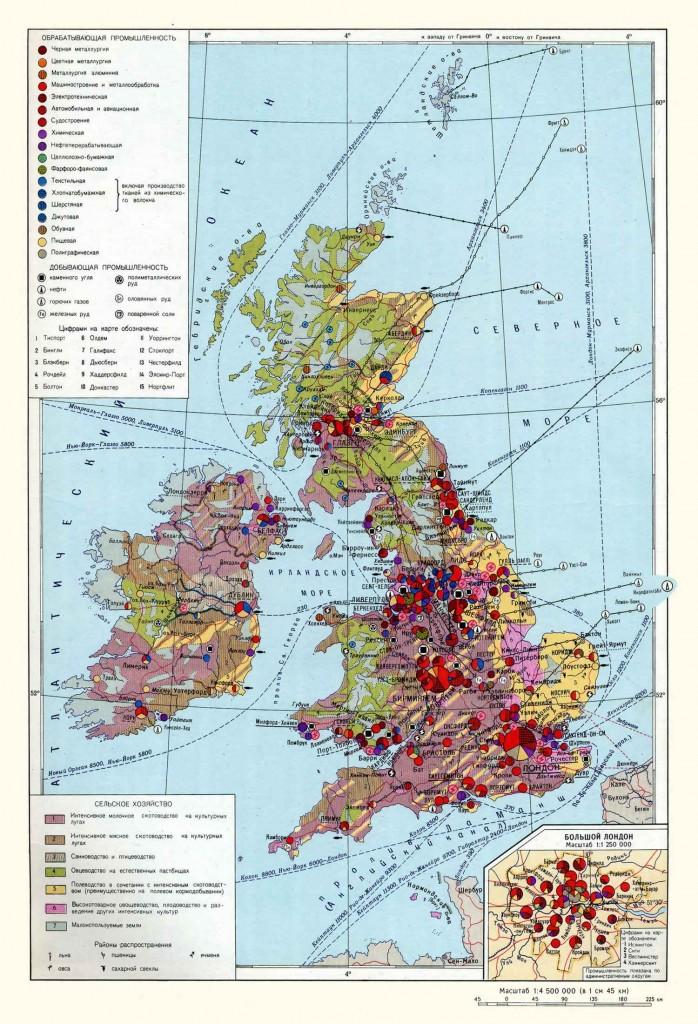Экономическая карта Великобритании