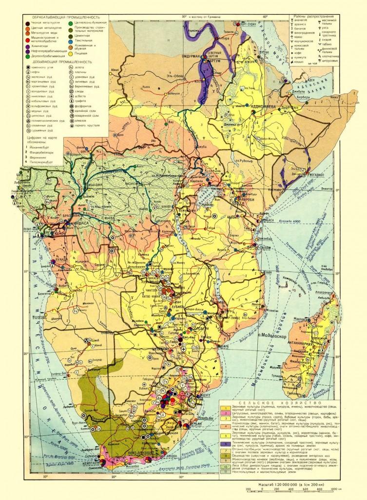 Центральная, Восточная и Южная Африка на экономической карте