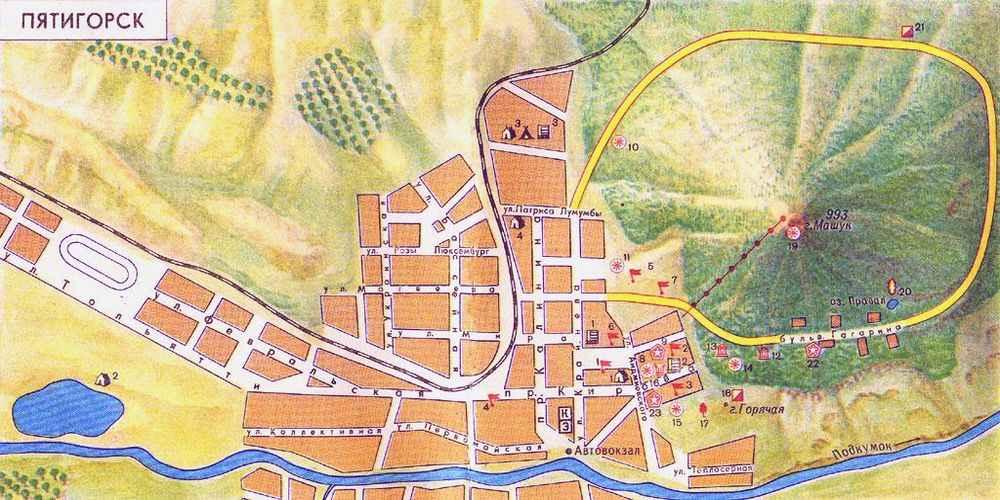 Пятигорск на туристической карте